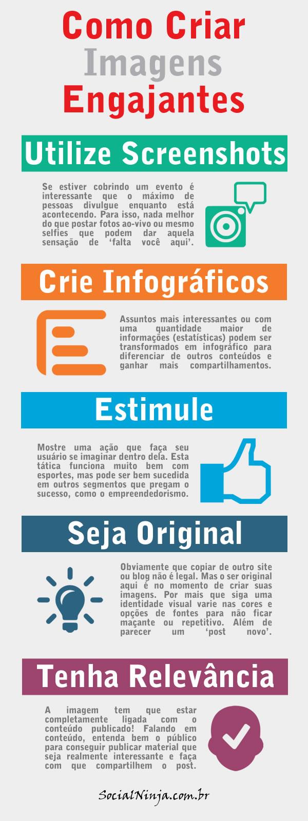 Infográfico Imagens Que Geram Engajamento