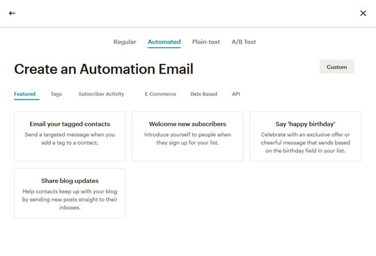 Mailchimp Create Automation